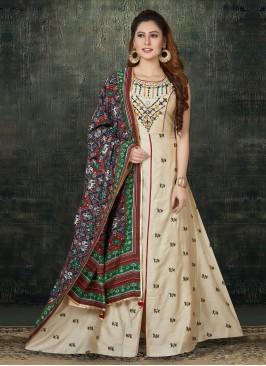 Mirror Work Anarkali Suit