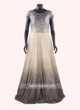 Mirror Work Full Length Gown