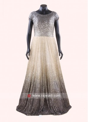Mirror Work Full Length Gown