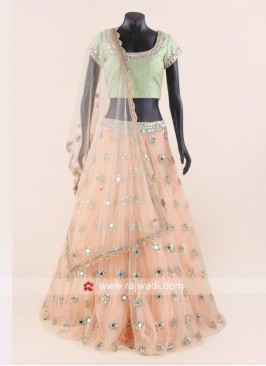 Mirror Work Sangeet Lehenga Choli