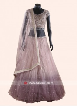 Mirror Work Shaded Lehenga Choli