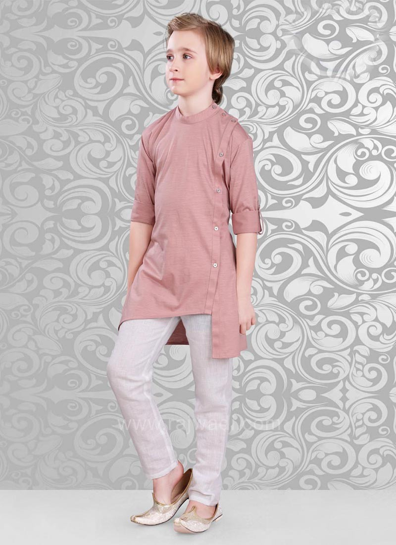 Misty Rose Color Kurta Pajama