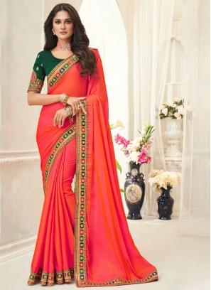 Modest Silk Orange Classic Saree