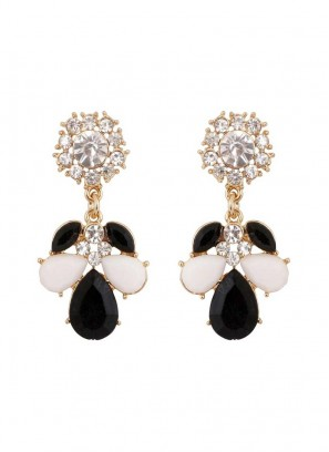 Monochrome Black and White Drop Earrings