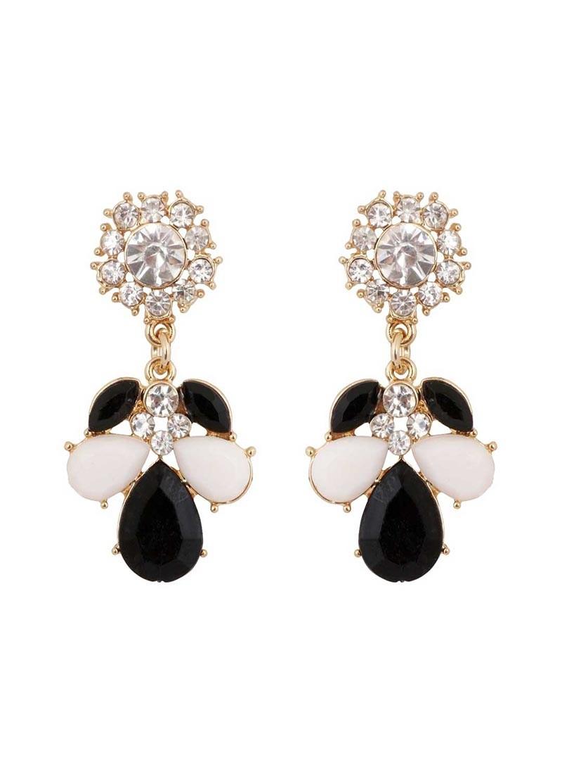 Monochrome Black and White Drop Earrings
