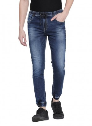 Mufti Blue Dark Wash Jogger Jeans