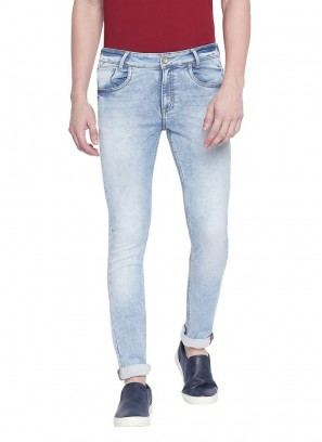 Mufti Blue Light Skinny Fit Denim Deluxe Jeans