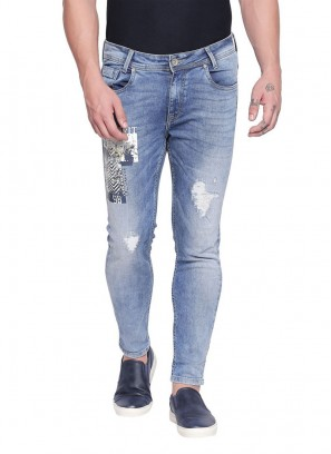 Mufti Blue Mid Ankle Length Free Spirited blue Jeans