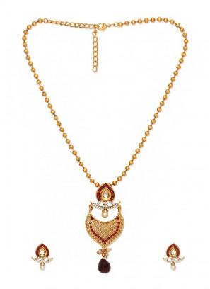 Mughal Pear Pearl Red Earrings