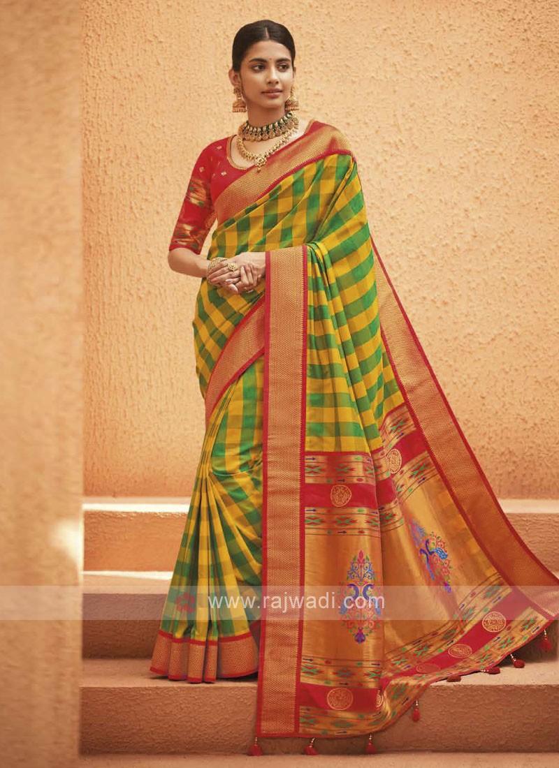 Multi Color Art Silk Saree