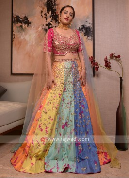 Silk Multi Color Lehenga Choli