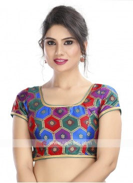 Multi-Color Brocade Ready Blouse