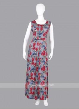 Multi Color Cotton Maxi Dress