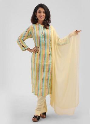 Multi Color Cotton Pant Style Suit