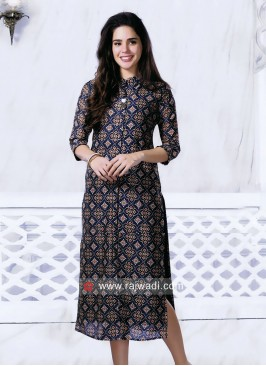 Multi Color Cotton Silk Kurti