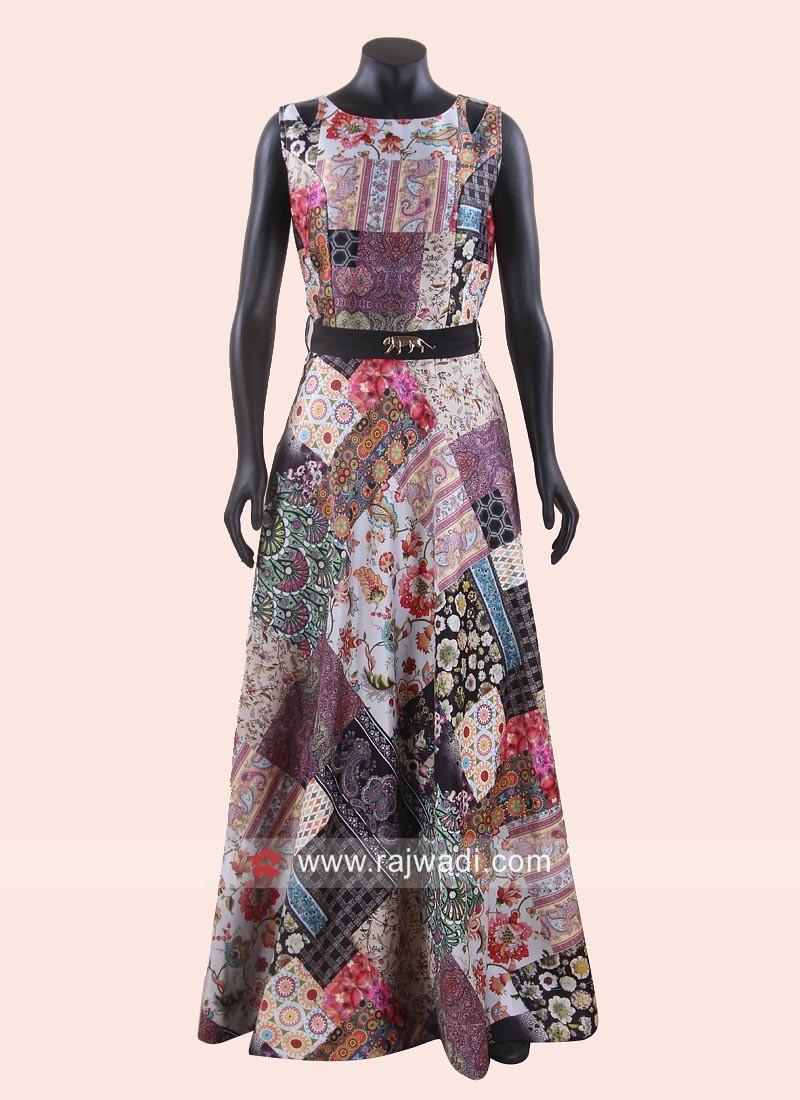 Multi Color Maxi Style Anarkali Dress