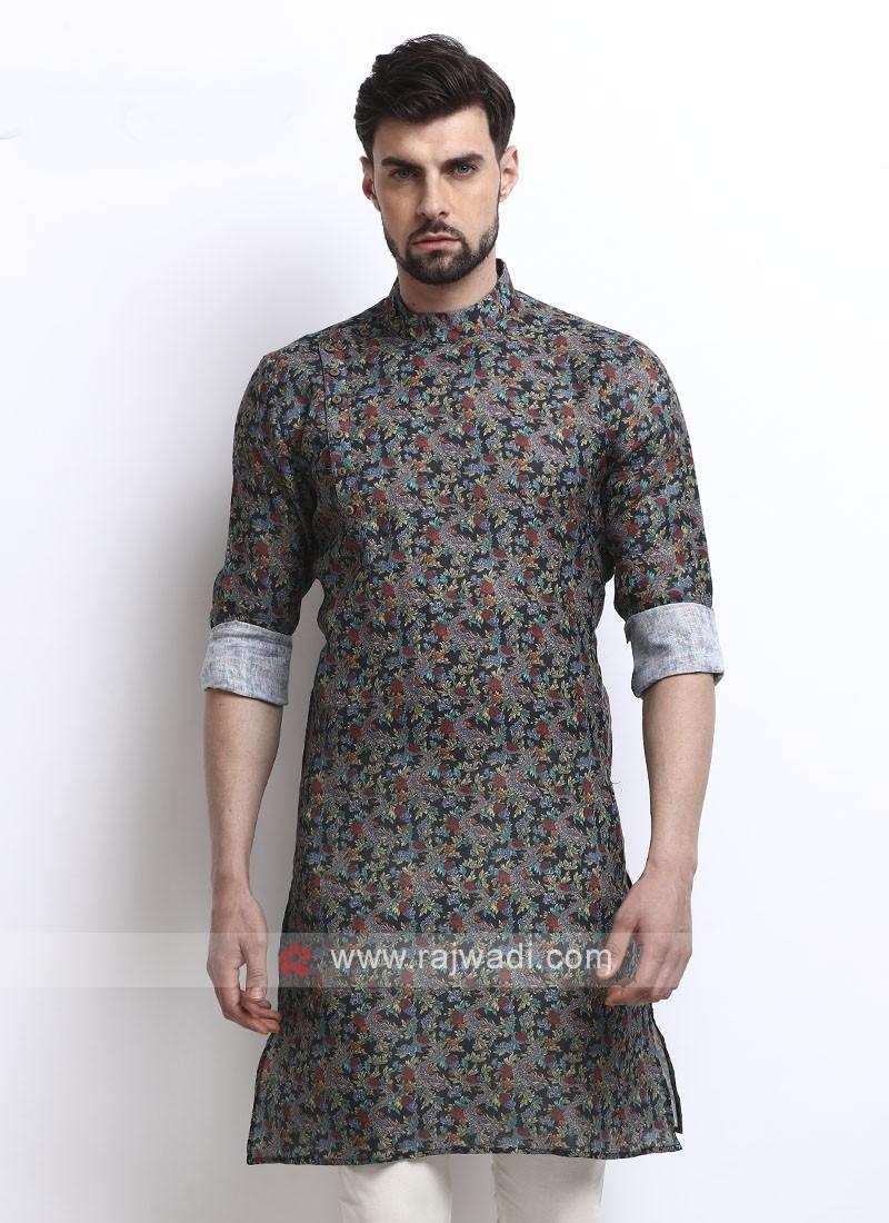 multi color printed kurta