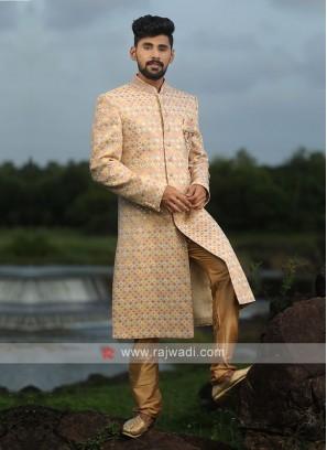 Multi Color Sequins Work Sherwani