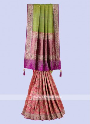Multi Color silk saree