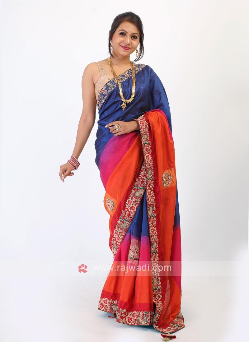 Multi-Color Silk Saree