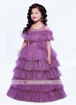Multi Layer Beautiful Purple Doll Gown
