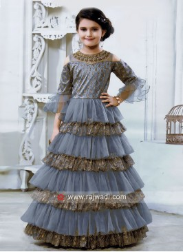 Multi Layer Designer Gown for Kids