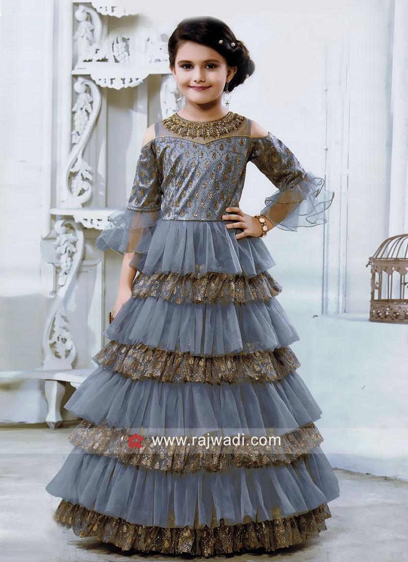 Multi Layer Designer Gown for Kids