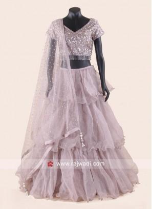 Multi Layer Designer Wedding Lehenga