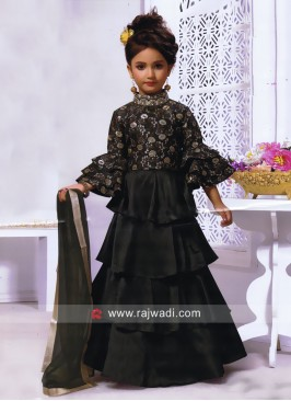 Multi Layer Kids Choli Suit with Dupatta