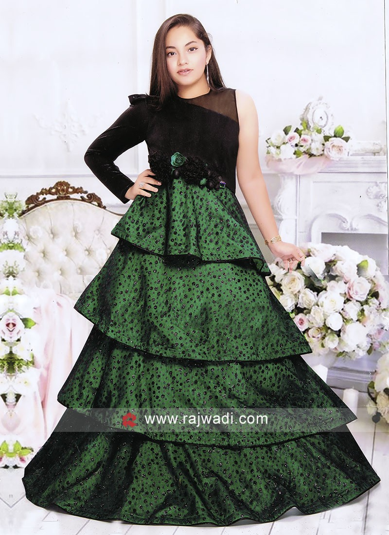 Multi Layer Wedding Gown for Girls