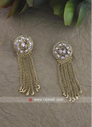 Multi Layered Golden Earrings