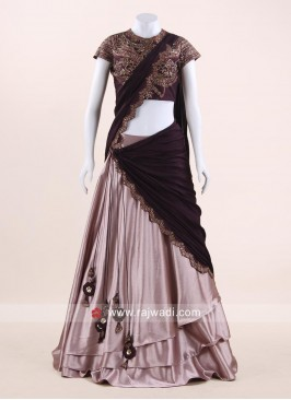 Multi Layered Lehenga with Pre Stitched Dupatta