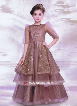 Multi Layered Slit Gown for Kids