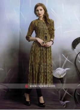 Dressline Multi Print Crepe Silk Kurti