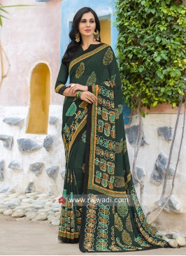 Multi Printed Office Wear Saree