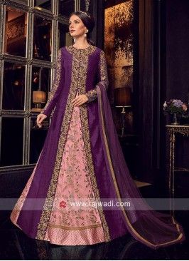 Multi Slit Heavy Jacket Salwar Suit for Eid