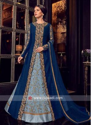 Multi Slit Jacket Style Heavy Eid Salwar Suit