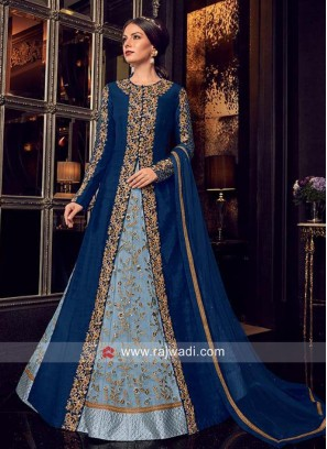 Multi Slit Jacket Style Heavy Salwar Suit