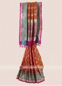 Multicolor Banarasi Silk Saree