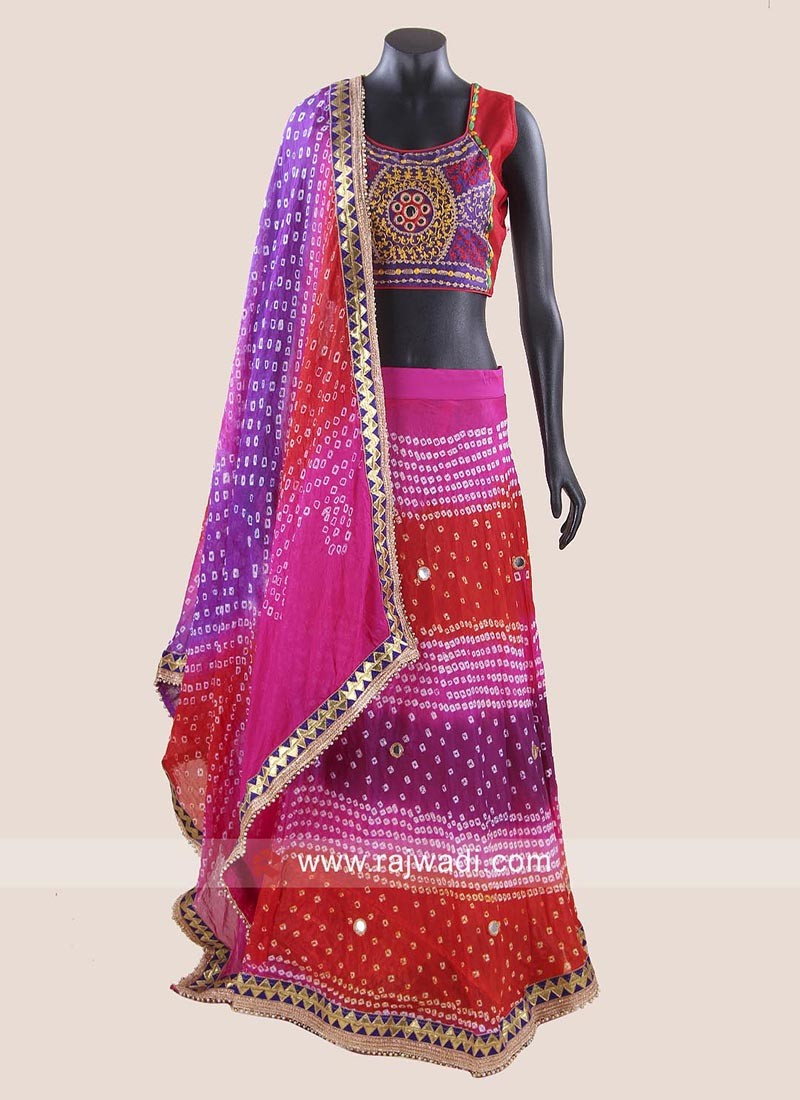 Multicolor Bandhani Navratri Chaniya Choli