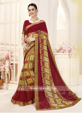 Multicolor Casual Printed Saree