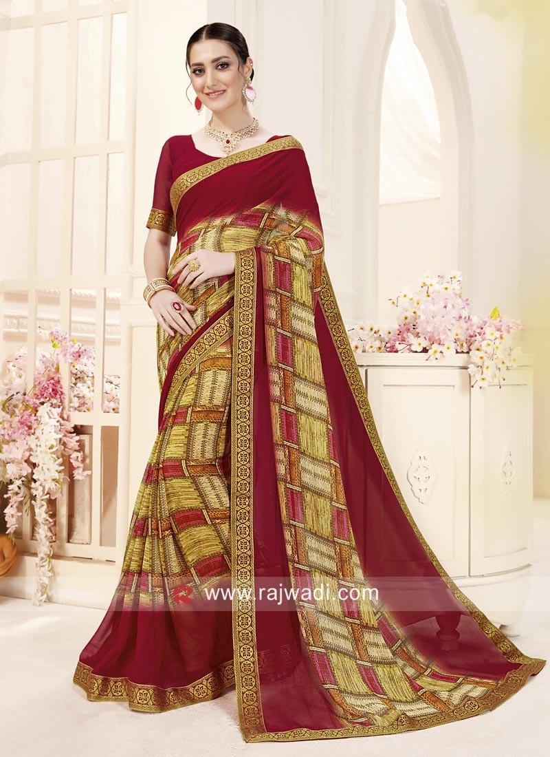 Multicolor Casual Printed Saree
