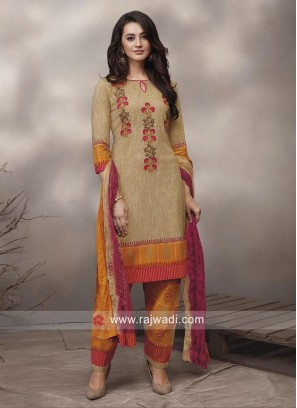 Multicolor Flower Print Salwar Suit