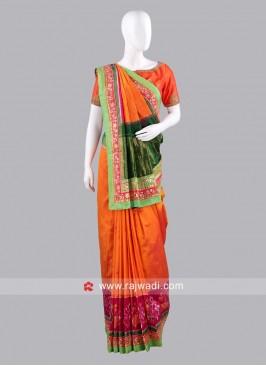 Multicolor Gujarati Patola Sari