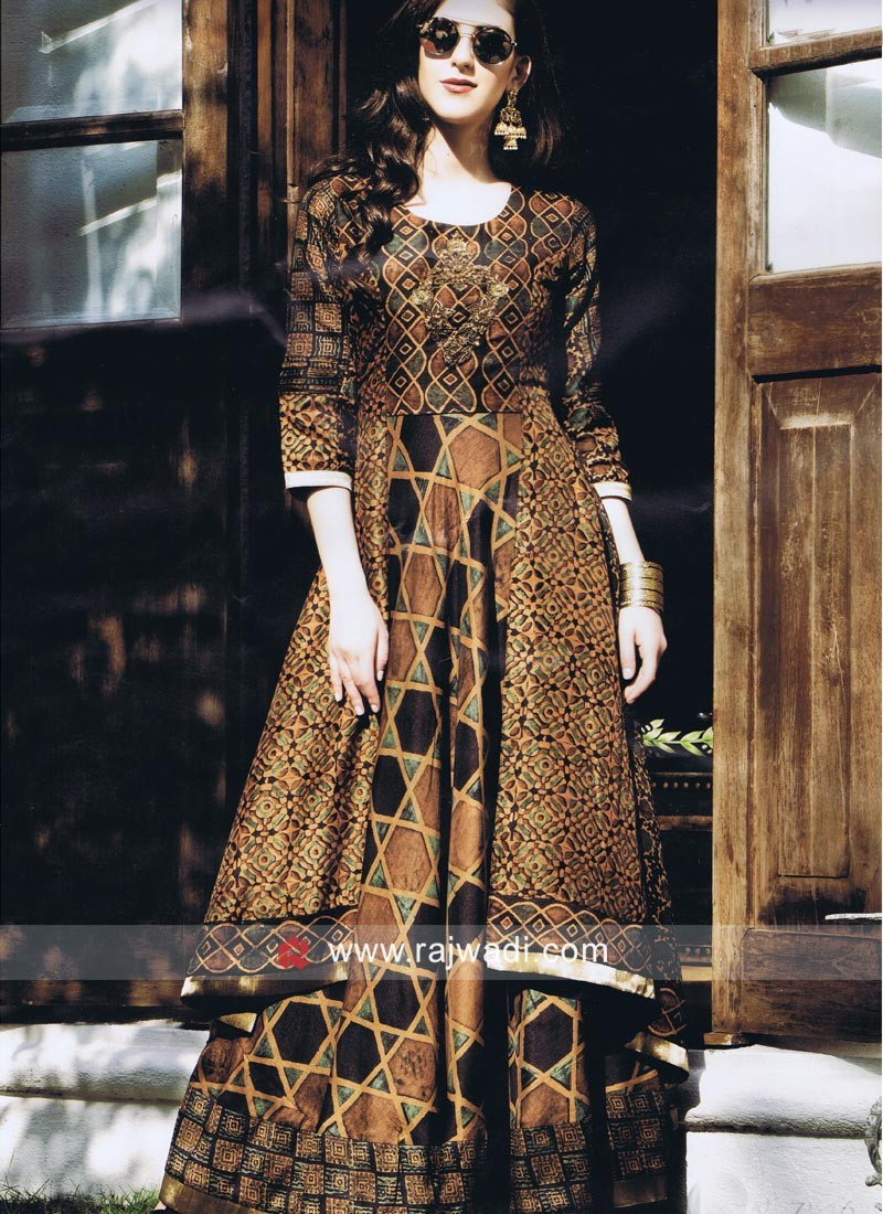 Multicolor High Low Kurti