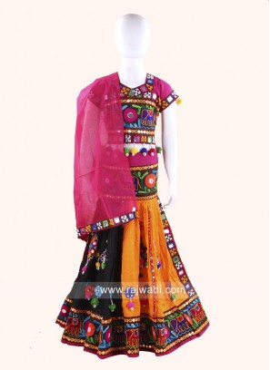 Multicolor Kids Chaniya Choli for Navratri