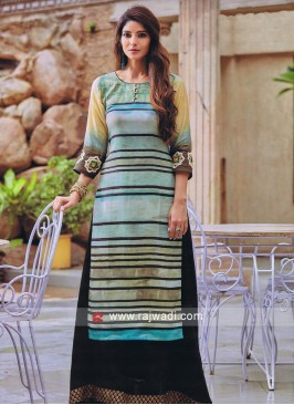 Multicolor Long Kurti with Sleeves