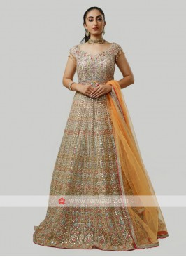 Multicolor Net Gown