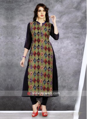 Multicolor Printed Chiffon Tunic