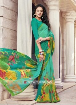 Multicolor Printed Saree